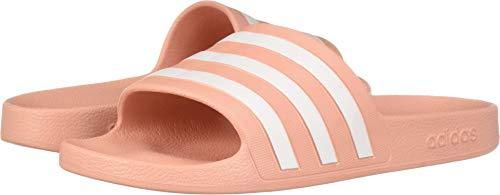 adidas Women's Adilette Aqua Sandal, Dust Pink/White/Dust Pink, 5