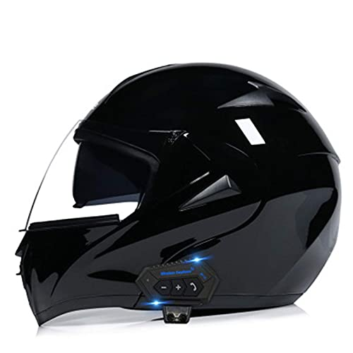 XYXZ Cascos Integrales De Motocicleta Cascos De Motocicleta, Casco Modular con Bluetooth, Doble Visor, Cascos Integrales, Casco Aprobado por Dot/Ece, Micrófono De Altavoz Incorporado para
