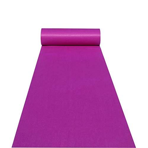 XHCmat Gangloper paars, wegwerppolyester tapijt, tapijtloper voor bruiloften, gangtrappen, partypacks