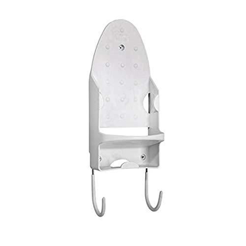 LNIEGE - Soporte de Pared para Tabla de Planchar, se Monta fácilmente contra la Pared o la Puerta, Organizador de Hierro, Color Blanco