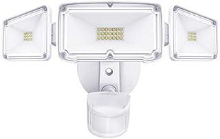 Amico 3 Head LED Security Lights Motion Outdoor Motion Sensor Light Outdoor 40W 3500 Lumens 5000k Waterproof IP65 ETL Motion Sensor Flood Light Exterior Security Light led