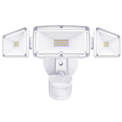 Amico 3 Head LED Security Lights Motion Outdoor Motion Sensor Light Outdoor 40W 4000 Lumens 5000k Waterproof IP65 ETL Motion Sensor Flood Light Exterior Security Light led