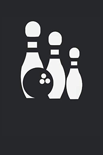 Bowling Icon: Bowlingball und Bowlingpins Bowler Geschenke Notizbuch liniert (A5 Format, 15,24 x 22,86 cm, 120 Seiten)
