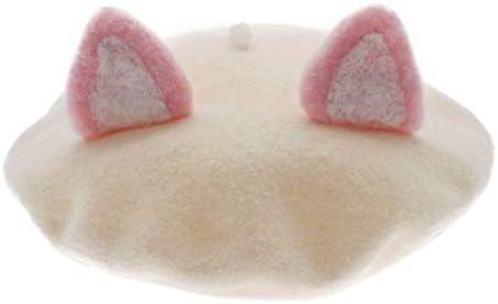 Women's Cute Lolita Cat Beret Cap Painter Hat Sweet Students