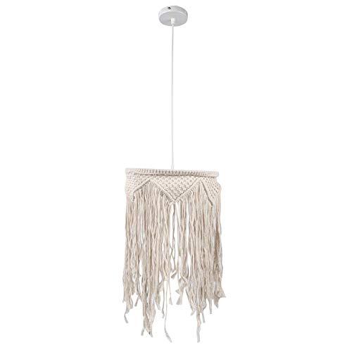 Handgeweven lampenkap, lampenkap ornament, macrame lampenkappen plafond hanglamp schaduw kwastje kroonluchter