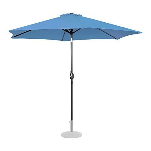 Uniprodo Ombrellone da Esterno Grande Ombrello da Giardino Uni_Umbrella_TR300BL (Blu, Esagonale, Inclinabile, Ø 300 cm)