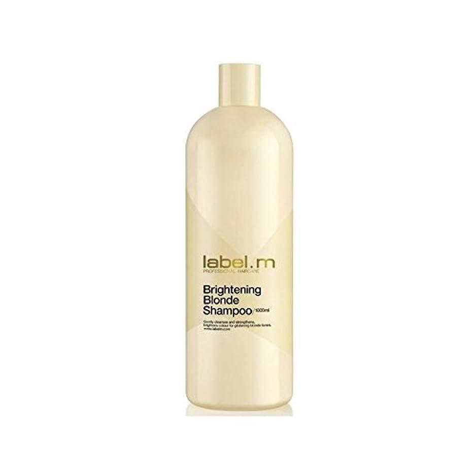 科学者比較的好き.増白ブロンドシャンプー(千ミリリットル) x2 - Label.M Brightening Blonde Shampoo (1000ml) (Pack of 2) [並行輸入品]