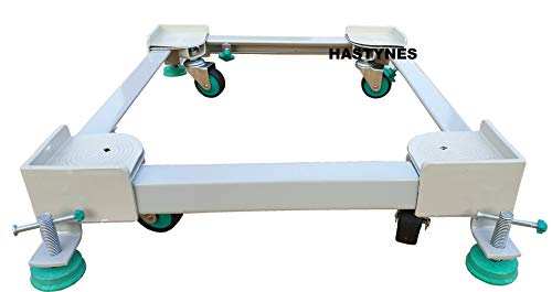 HASTYNES Heavy Duty Front Load Washing Machine Stand Trolley for 5kg, 5.5kg, 5.8kg, 6kg, 6.2kg, 6.5kg, 6.8kg, 7kg, 7.2kg, 7.5kg, 7.8kg, 8kg, 8.5kg Capacity (for Front Load) (White)