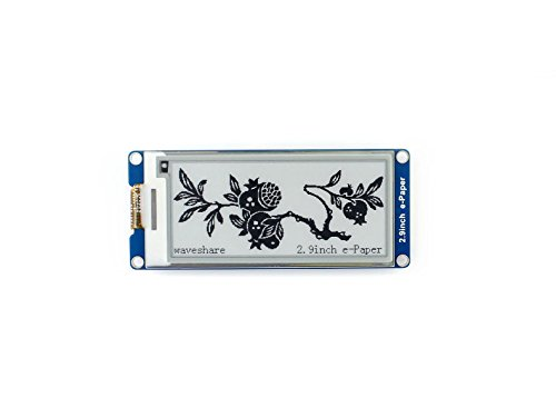 Waveshare 2.9 Inch E-Paper Display Panel Module Kit 296x128 Resolution E-Ink Electronic Screen for Raspberry Partial Refresh SPI Interface
