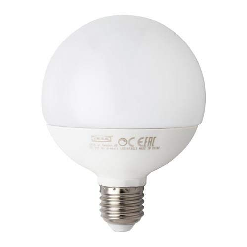 LEDARE - Bombilla LED E27 1000 lúmenes, regulable, globo blanco ópalo