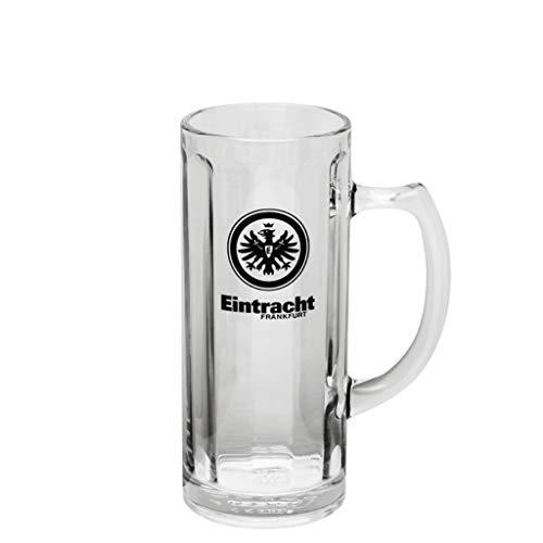Eintracht Frankfurt Bierseidel 0,5 l logo glas, bierglas, bierpul SGE - Plus bladwijzer I Love Frankfurt