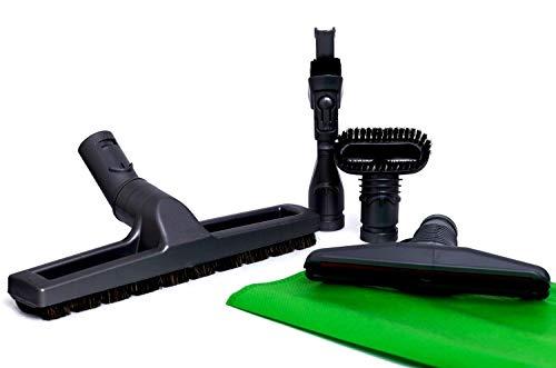 Green Label Kit de 4 Cepillos para Aspiradoras Dyson: Cepillo de Cerdas, Cepillo Rígido, Accesorio para Colchones, Accesorio Combinable 2-en-1