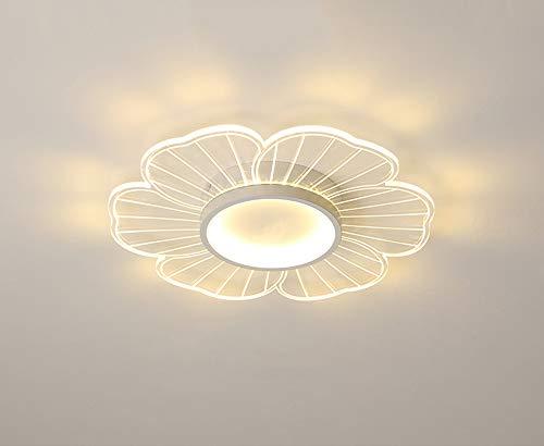 Moderno Forma flor dormitorio Iluminación de techo Ultradelgado LED regulable lámpara de techo redondo control remoto espiral simple hierro metal ajustable Arte comedor sala de estar,Ø62cm