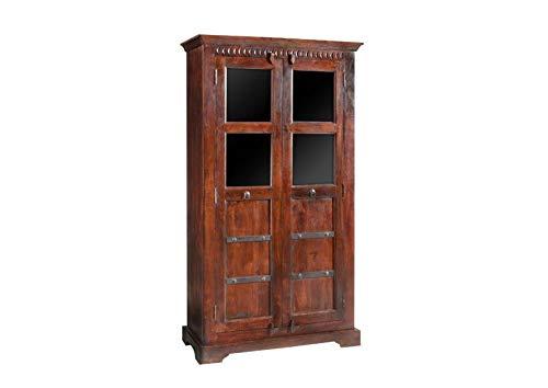MASSIVMOEBEL24.DE Kolonial Eckschrank Akazie Möbel massiv Oxford #410