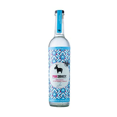 TEQUILA REY JAGUAR - Mezcal Pink Donkey Agave Tobala – 100% agave - 700 ml - 46% Alcohol - Mezcal México – Licores