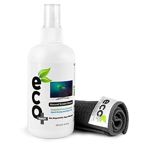 Ecomoist Natural Screen Cleaner 250ml with Fine Microfiber Towel