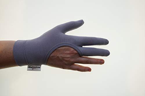 Regi`s Grip Guantes para acolchar, de tres dedos, para patchwork, acolchados, acolchados, a máquina, patchwork, costura, costura libre, trabajo a mano (M, color gris)