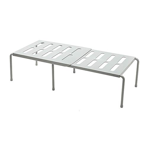 GOBENO Durchschlagsfreies Gewürzlagerregal Kunststoff-Gewürzregal Versenkbares Küchenregal Geschirrregal (Gray)