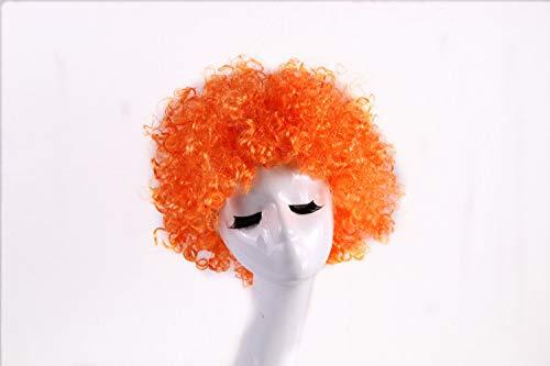 Unbekannt Kinder Flauschig Farbige Nein Perücke Erwachsene Mehrfarbige Blast Head Führt Clown Perücke kurz orange