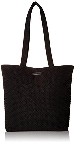 Vera Bradley Women's Microfiber Tote Bag Totes, Classic Black, One Size