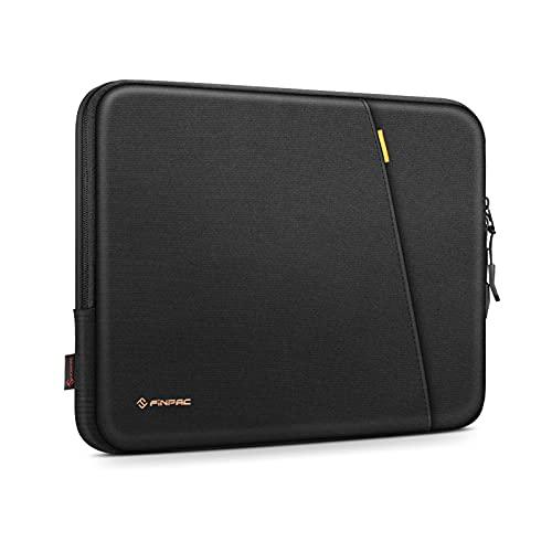 FINPAC Funda para Portátiles para 13.3' MacBook Air/ Pro, 13,5' Surface Book/Laptop, Huawei Matebook D14, ASUS ZenBoo/VivoBook 14, Laptop Protectora Bolsa Blanda con Bolsillo para Accesorios, Negro
