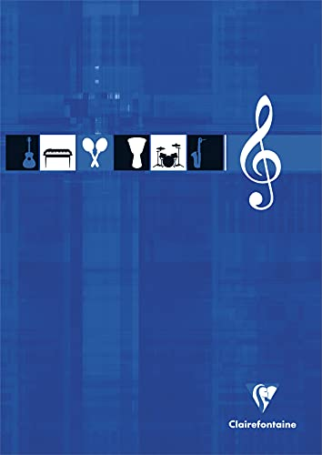 Clairefontaine 6157C–Bloc música encollé 12ejes 100páginas 90g A4color aleatorio