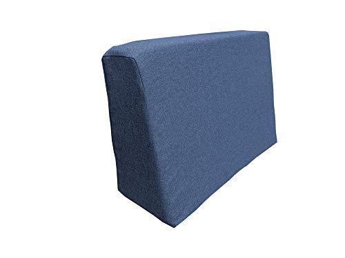 haus & garten Madera Palettenkissen, Gartenkissen, Palettenauflage, Palettenpolster, Kissen (Seitenkissen 60x40x10/20, Blau)