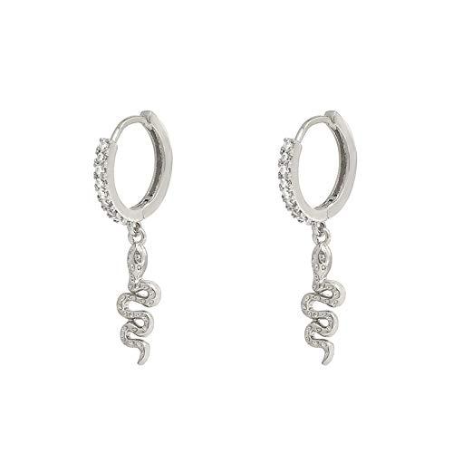 925 Sterling Silber Ohrringe Schlange Tier Wild Ohrringe Schmuck Gold Ohrringe Ohrringe Für Frauen