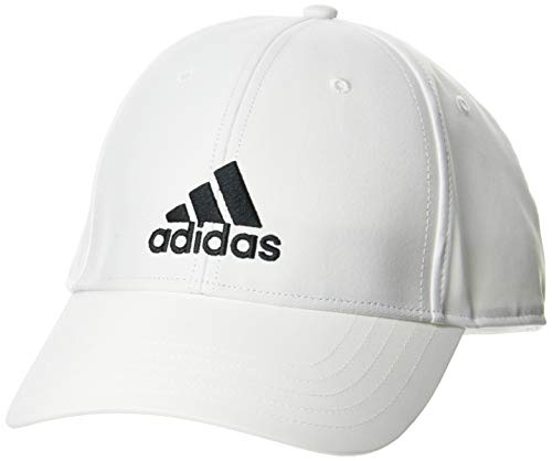 adidas Bballcap Lt Emb Gorra, Unisex Adulto, White/White/Black, OSFM ✅