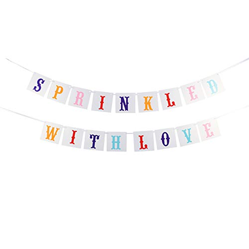 VANVENE Sprinkled with Love Banner for Baby Shower,Wedding Party Decorations Color Card Bunting Banner