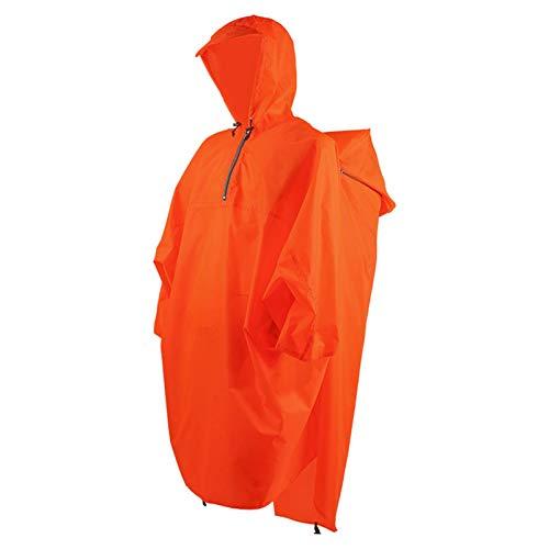 Amusingtao Poncho de lluvia con funda de mochila, capa de lluvia impermeable con capucha, ligero, reutilizable, deportes al aire libre, senderismo, equipo de lluvia para mujeres y hombres