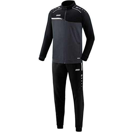 JAKO Herren Competition 2.0 Trainingsanzug Polyester, anthrazit/Schwarz, L