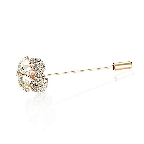 Ludage Exquisito Broches para Ropa Mujer Broche de Flor pequeña de Cristal con Incrustaciones de circón Hombres y de Mujeres Boda Traje Cuello Aguja