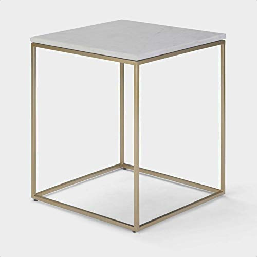 Zager End Table, Base Material: Metal, Overall: 21'' H x 18'' W x 18'' D