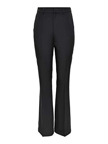 Only ONLCHARMING HW Flare Pant PNT Noos Pantaln, Negro, 38W x 32L para Mujer