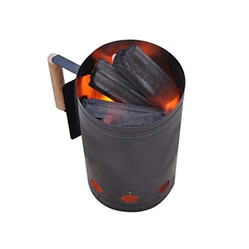 Yissma Grill Aansteker: Barbecue Open haard voor kolen en briketten, zwart (houtskoolaansteker)