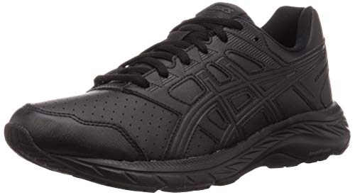 ASICS Mens Gel-Contend 5 SL Walking Shoe, Black/Graphite Grey, 46 EU