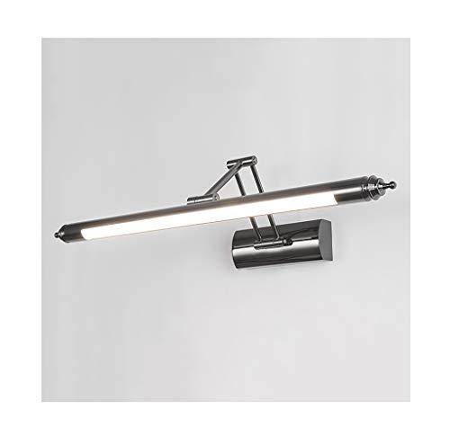 William 337 Spiegel Frontleuchte LED Teleskop Klappspiegel Schrank Licht Badezimmer Wandleuchte [Energieklasse A +] (Farbe : Warmes licht-11W/64CM)