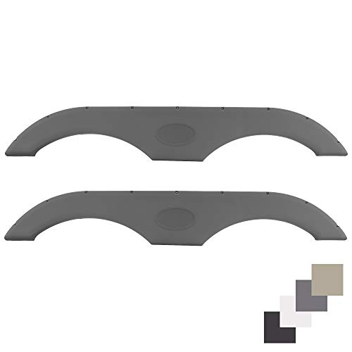 RecPro Tandem Trailer Fender Skirt for RVs, Campers and Trailers   4 Colors to Choose from (Gray, 2-Pack)