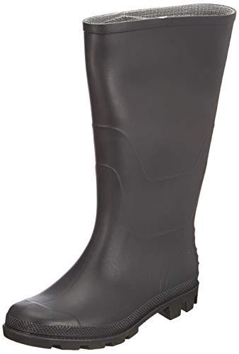 Portwest FW90 Stivale PVC Wellington O4 Stivali di gomma da lavoro, Unisex - Adulto, SRC, Nero (Nero Bkgr), 42 EU (8 UK)