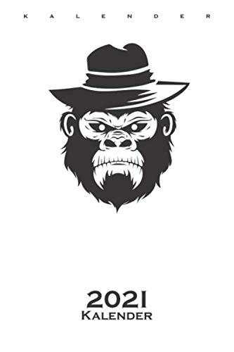 Affe mit Hut Kalender 2021: Jahreskalender für Tierfreunde und Fans von Affen