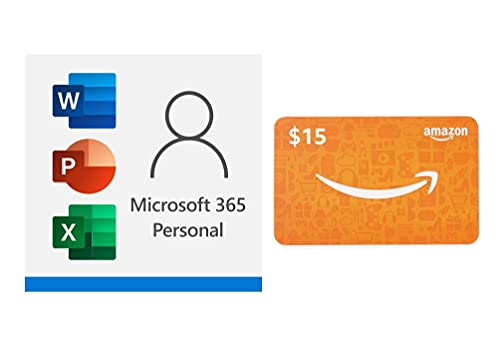 Microsoft 365 Personal 12 month subscription with $15 Gift Card Only $58.99 (Retail $84.99)