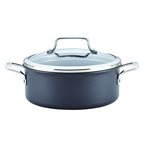 Anolon 81062 Authority Dutch Oven, 5 Quart, Gray