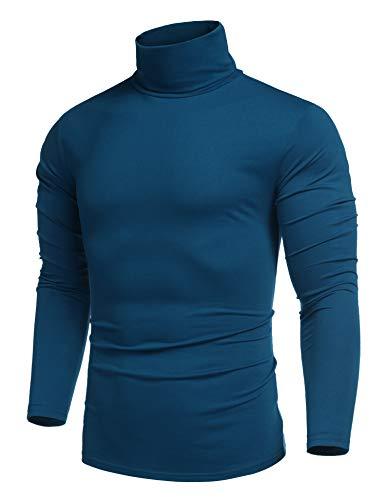 COOFANDY Herren Rollkragen Langarmshirts T-Shirts Slim Fit Rollkragen Unterzieh Rolli Longsleeve Turtleneck Shirt Pullover Einfarbig