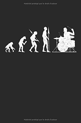 Cahier Drummer Evolution pour batteurs: Carnet de cadeaux musicien batterie doublé (format A5, 15,24 x 22,86 cm, 120 pages)