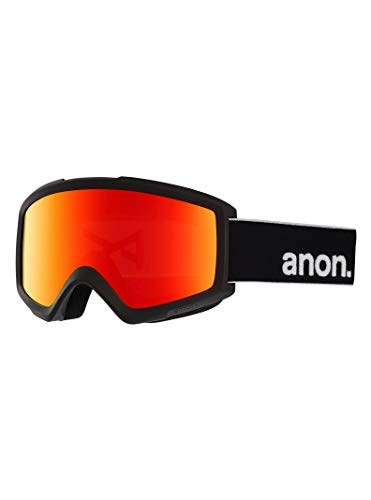 Anon Herren Helix 2 with Spare Snowboardbrille, Black/Sonar Red