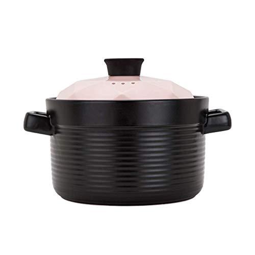 DYXYH Casserole Steintopf Herd Keramiktopf Traditionelle Haushalt Gesundheit Suppe Porridge Pot Reiskocher Feuer Hitzebeständigkeit (Color : B, Size : 20.5CM)