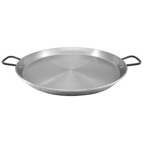 MUURIKKA Paella Pfanne aus Stahl 60cm für Grill, Gas, offenes Feuer und alle Outdoor-Kochgelegenheiten
