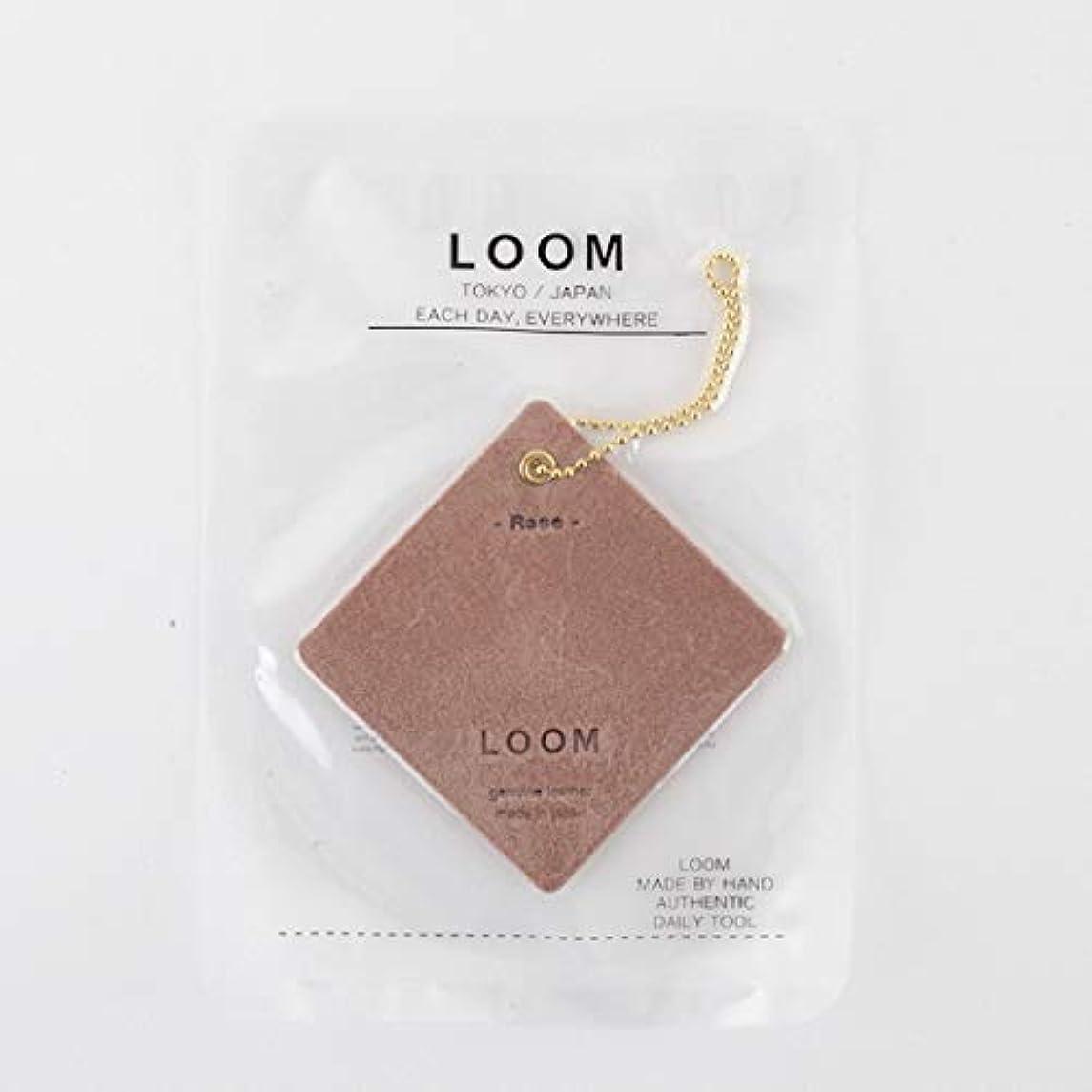 伝統露出度の高いやけど[LOOM] フレグランスレザータグ (エアフレッシュナー) ROSE