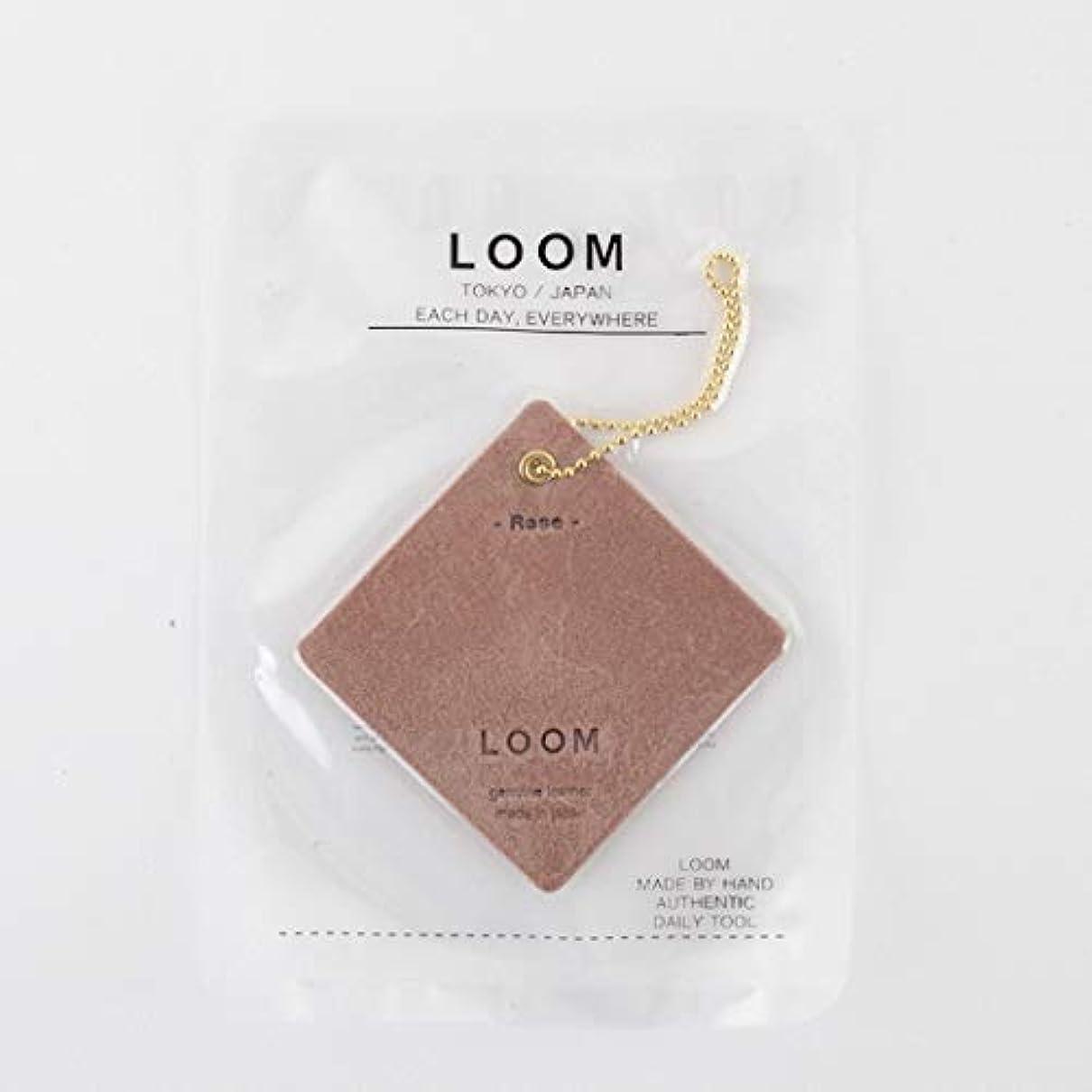 機械的動的依存する[LOOM] フレグランスレザータグ (エアフレッシュナー) ROSE
